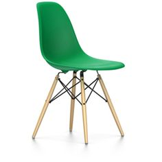 Vitra Eames DSW Plastic Upholstered Chair Eames dsw chair and
