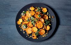 Roasted Yams with Citrus Salsa. http://www.bonappetit.com/recipe/roasted-yams-with-citrus-salsa