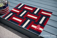 Home of the Brave | Pink Ribbon Welcome Mats
