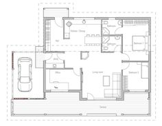 Small House Plan CH23 detailed building info. Floor plans for small home plan.