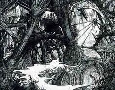 Forest gothic-drawings