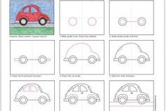 Draw a VW Beetle Car
