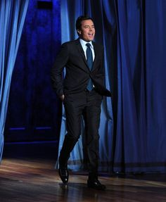 Jimmy Fallon; this guy's got a great sense of rhythm, and moves. Funny, handsome, and a great dancer!