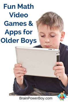 Looking for math video games and apps for your older boy? These fun math games chosen with boys 9+ in mind rock! They will love them.