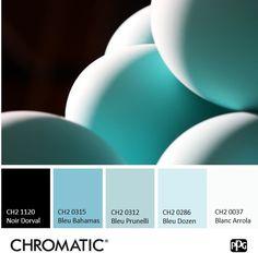 Le contraste entre ces deux #couleurs froides est toujours une réussite ! #chromatic #nuancier #teintes #nuances #décoration #intérieur #peinture #maison #pièce #tons #ambiance #oeufs #eggs #shades #paint #bleu #blue #blanc #white #noir #black #dozen #mi #bahamas #prunelli #Arrola Decoration, Inspiration, Blue, Color, Home Painting, Shades, Black People, Decor, Biblical Inspiration