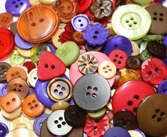 Fancy and Decorative {Assorted Sizes w/ 1, 2, 4 Holes} 50 Pack of 'Flat and Shank' Sewing and Craft Buttons Made of Acrylic Resin w/ Vintage Simple Jewel Toned Autumn Seasonal Design {Assorted Colors} *** Visit the image link more details.
