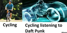 Funny pictures about Different types of cycling. Oh, and cool pics about Different types of cycling. Also, Different types of cycling photos. Daft Punk, Edm, Cycling Memes, Bike Humor, Tron Legacy, Get To Know Me, Dance Music, Hd 1080p, Wallpaper Backgrounds