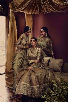 "sabyaasachi: """"Manvitha Mallela, Aditi Rao Hydari & Ravyanshi Mehta for Vogue India Designer: Sabyasachi Mukherjee "" "" Indian Bridal Fashion, Indian Bridal Wear, Indian Wedding Outfits, Pakistani Bridal, Bridal Outfits, Bridal Lehenga, Pakistani Dresses, Indian Dresses, Indian Wear"