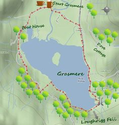 3 miles walk around Grasmere Lake District Walks, Peak District, Uk Destinations, Walking Routes, Picture Postcards, The Mountains Are Calling, Cumbria, Lake View, Go Camping