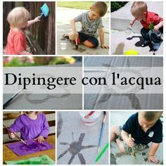 Painting with water. Outdoor Education, Eco Friendly Toys, Montessori Toys, Kids Toys, Dads, Baseball Cards, Activities, Play, Learning