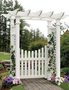 Cottage Picket Arbor Gate (Gate Only)  This No Maintenance Vinyl Gate Is