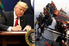 Welcome to Oghenemaga Otewu's Blog: Pres. Donald Trump bans all refugees from entering...