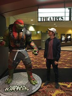 damianmcginty: Didn't expect to make a new friend on a casual cinema trip, but sometimes these things happen.