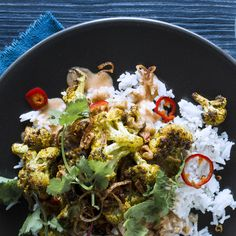 Vadouvan-Roasted Cauliflower With Harissa Chickpea Curry Faster! Faster! Skip the pickling and just top the curry with sliced fresh Fresno chiles. Or leave them out altogether if you're spice-averse.