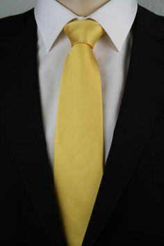 JD 4 Krawatte extralang Goldgelb 160cm