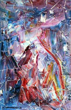 Might and Magic  Olie på lærred  (60x40) 2010 af Svend Christensen