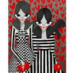 Valentino. Georgina Chavez illustration for fall winter 15-16