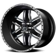 American Force Ambush SF6 Flat Black Custom Truck Wheels & Rims