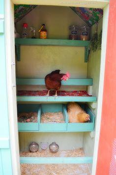Great Chicken Housing Design - Coop Du Jour 3.0 ~ Farmhouse 38.  I love love this!!