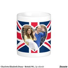 Charlotte Elizabeth Diana - British Will Kate Basic White Mug  -  Visit my Zazzle Store for more Great Gift Ideas - http://www.zazzle.com/cdandc - #royalfamily #british #gifts #will #kate #mug #souvenir