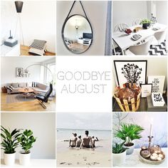 FoRs-HoMe ➡️ Collage ➡️ My August on Instagram