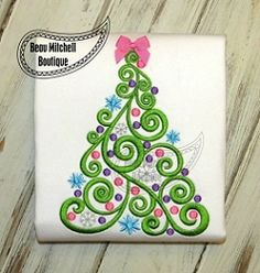 Swirl Tree 2 - 3 Sizes! | What's New | Machine Embroidery Designs | SWAKembroidery.com Beau Mitchell Boutique