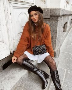 #fallstyle #ootd #parisian Winter Fashion Outfits, Fall Winter Outfits, Autumn Winter Fashion, New York Winter Fashion, Fall Fashion Trends, Fashion Ideas, Summer Outfits, Fashion Tips, Fashion 2020