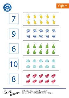Zet een rondje om het juiste aantal plaatjes [4] Learn Korean, School Readiness, Math Skills, Teaching Materials, Math Worksheets, Teaching Math, Kids Learning, Activities For Kids, Kindergarten