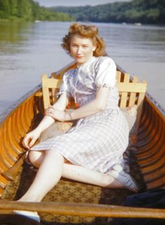 Woman on a boat, 1940s