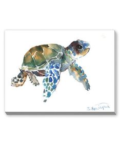 Look at this #zulilyfind! Blue & Green Tortoise Wall Art by Suren Nersisyan #zulilyfinds