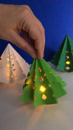 3d Paper Christmas Tree Luminary - Red Ted Art
