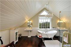 Master bath design for attic conversion