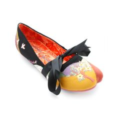 Irregular Choice Floral Cleft Toe Mary Jane