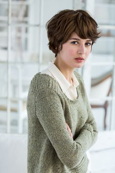 Brooklyn Tweed, Long Pixie, Pixie Cut, New Haircuts, Grow Out, Great Hair, Hair Dos, Cut And Color, Cute Hairstyles