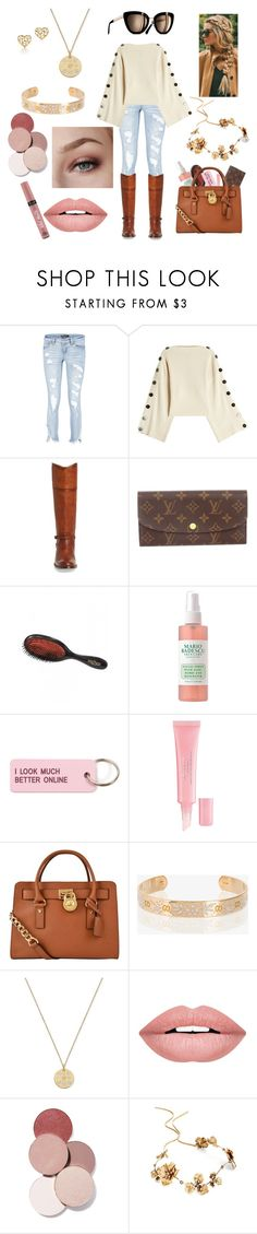 """""""Cute and preppy"""" by preppypinkprincess09 ❤ liked on Polyvore featuring Dollhouse, Petar Petrov, Frye, Louis Vuitton, Mason Pearson, Mario Badescu Skin Care, Various Projects, Christian Dior, MICHAEL Michael Kors and Gucci"""