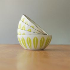 EXCELLENT Lime Green Cathrineholm 4 Lotus Bowl by DipperVintage, $120.00