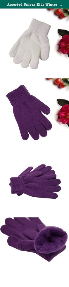Assorted Unisex Kids Winter Soft Magic Stretchy Gloves Solid Colors Pack of 4 ( 3 to 10 Y). The magic stretch gloves will keep the cold air out and kids' hands warm from the inside out. They are so soft and stretchy that parents can have four gloves for your little one for versatility, or share the other pairs with other children. Package Include: 4 Pairs of Assorted Unisex Kids Warm Winter Soft Magic Stretch Gloves (Color : White, Purple, Red, Black).