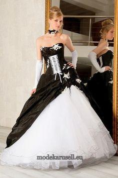 Hochzeitskleider schwarz weiß