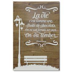 Tableau citation Forrest Gump Chocolats