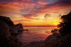 The lighthouse at the south of Lefkada island Exotic Beaches, Turquoise Water, Greek Islands, More Photos, Lighthouse, Greece, Sunset, Outdoor, Let