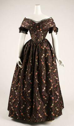 Dress ca. 1839-1841 via The Costume Institute of the Metropolitan Museum of Art