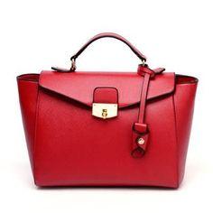 Luxury leather shoulder tote bag