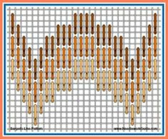 Bargello Line Pattern #NeedlepointStitch