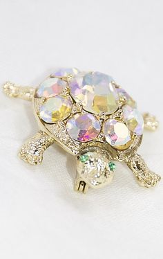 Vintage Turtle Brooch at  http://ptbchic.com/collections/jewelry/products/vintage-turtle-brooch #Pin #VintagePin #VintageTurtle