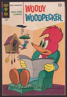 Vintage Woody Woodpecker /& Girl Friend Working Out Greeting Card 1982 NOS New