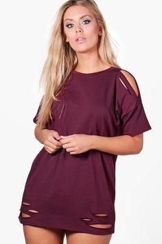 Plus Faith Distressed T-shirt Dress