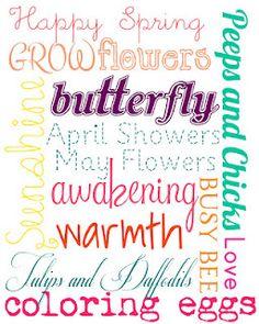 Subway Art Printables @ http://sweetlyscrappedart.blogspot.com/2012/03/spring-printables.html