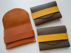 Leather cards holders (stitched/ not stitched)