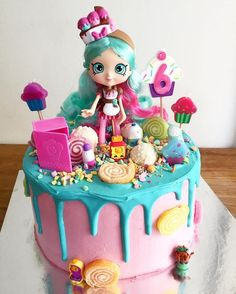 Shopkins themed cake!! This cake is super cute: