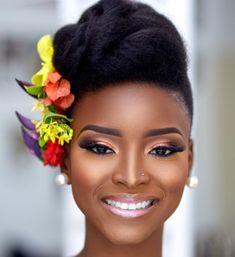 wedding hairstyles with tiara Bridal Makeup Looks, Wedding Hair And Makeup, Beauty Makeup, Hair Makeup, Hair Beauty, African American Makeup, Natural Wedding Hairstyles, Dark Skin Makeup, Hair Journey